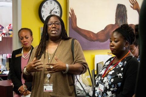 Sexual violence prevention at USC: Brenda Ingram speaks during Welcome Week