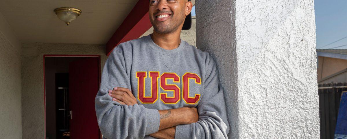 USC transfer student Ethan Ward