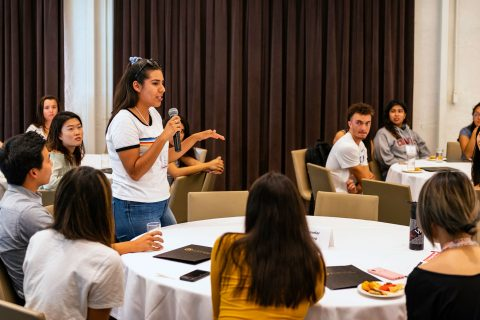 Adriana Ortiz, first-gen student, at first-generation college student programs
