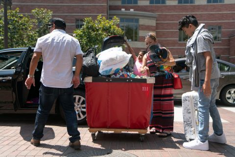 First gen student Anthony Llamas and his family move in