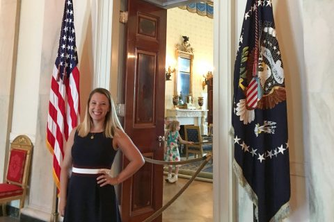 White House Historical Association intern Kelsey Kaline