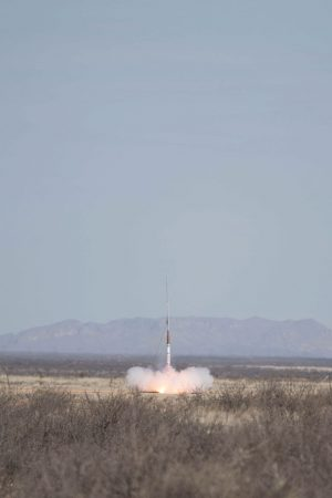 Rocket initiating lift off, part two