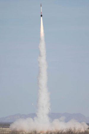 Rocket takes off