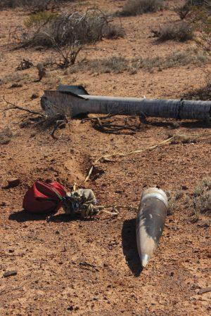 Rocket debris returns to earth