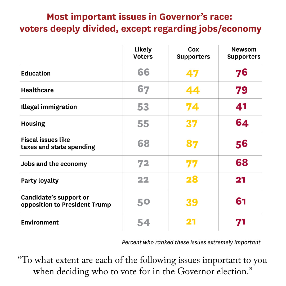 USC Dornsife/L.A. Times Poll: Most important issues in governor's race