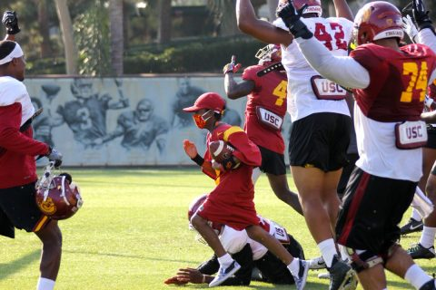 Taylor Hammond at USC practice