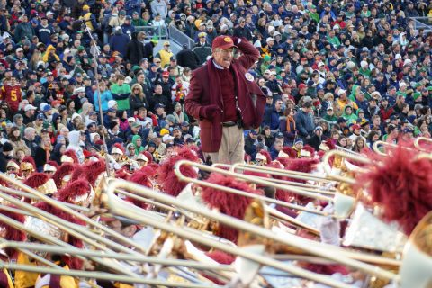 Trojan Marching Band streak: Arthur Bartner USC TMB
