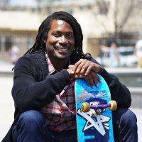 Neftalie Williams skateboarding