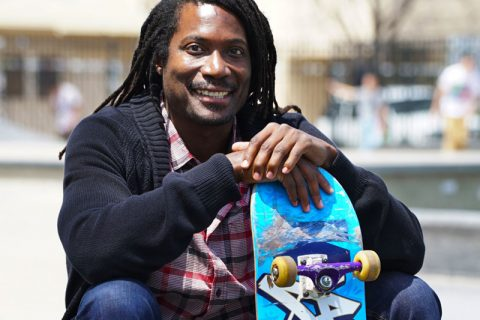 Neftalie Williams skateboarding