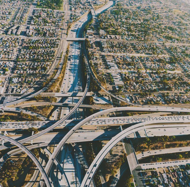 real estate in Los Angeles aerial