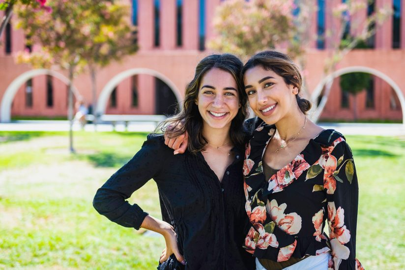 USC scholarships community service sisters: Shaliz and Nikki Aflatooni community service