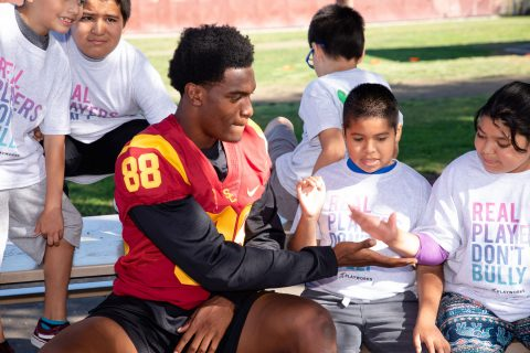 USC football volunteer work: Daniel Imatorbhebhe