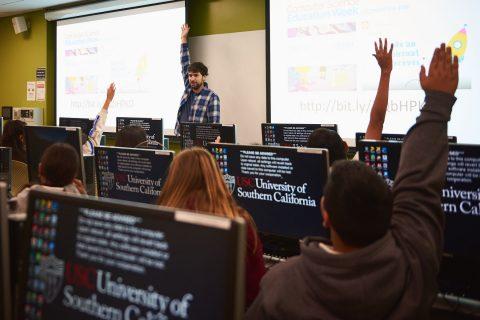 elementary school coding USC visit