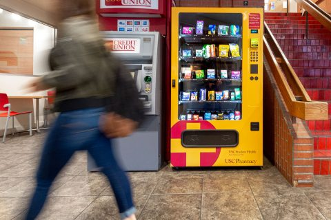 Student access to health products: vending machine