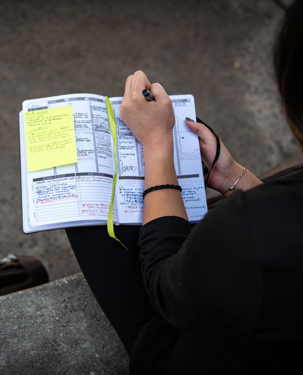 USC Mork Family Scholar Jacqueline Martinez's detailed planner