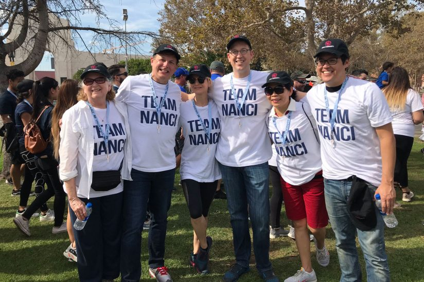 USC research on ALS: Team Nanci at the Walk to Defeat ALS at Exposition Park
