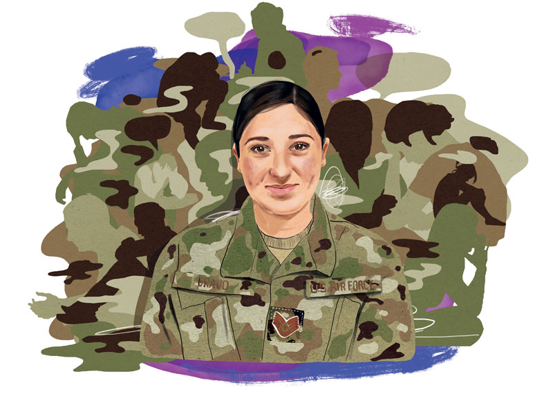 Illustration of Aimee Bravo