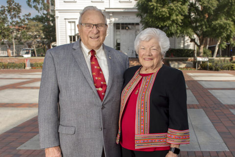 Half Century Trojans Jim and Janet Eddy