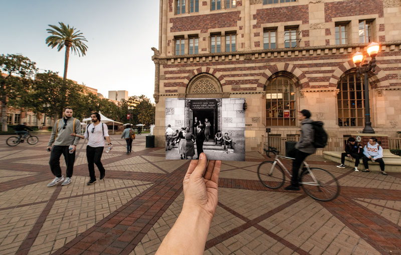 USC Student Union history image and current