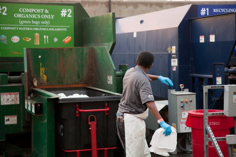 USC recycling trash sustainability