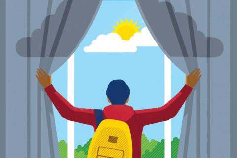 USC student mental health illustration