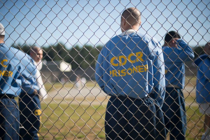 USC's Post-Conviction Justice Project: Inmates in prison yard