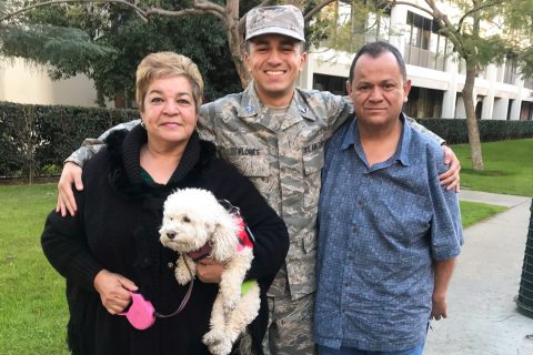USC ROTC program: Giovanni Flores and his parents