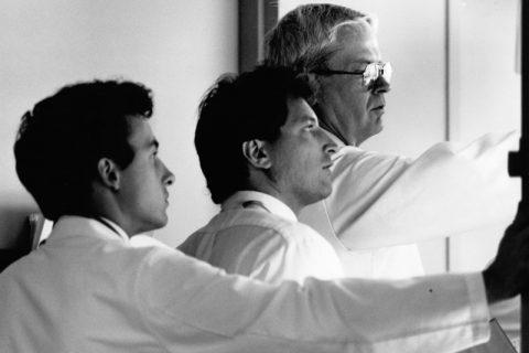 Donald Skinner urology pioneer with team