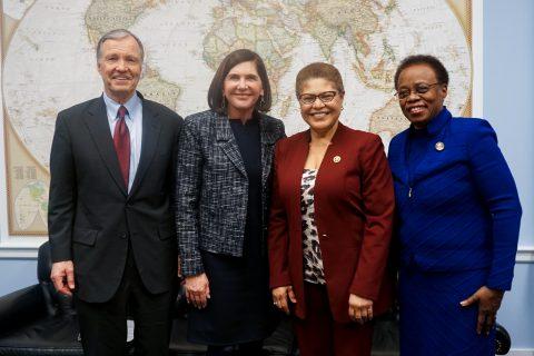 USC delegation in D.C.: Chris Cox, Kathy Lenenthal, Karen Bass and Wanda Austin