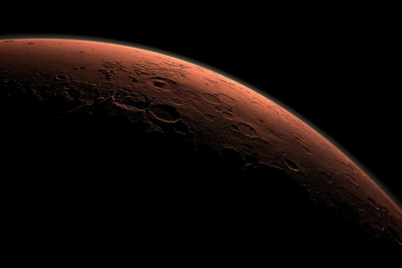 Water on Mars: Computer-generated view of the planet