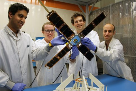 Satellite built by USC students