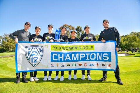 USC women's golf pac 12 champs