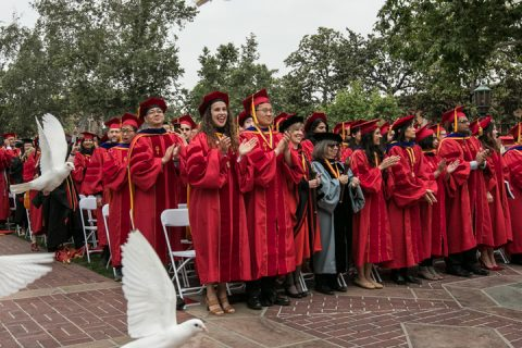 Doves at USC 2019 commencement