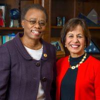 Wanda Austin USC president (interim) and President-elect Carol Folt