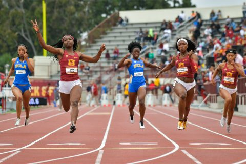 USC and UCLA battle in the final track and field meet of the season