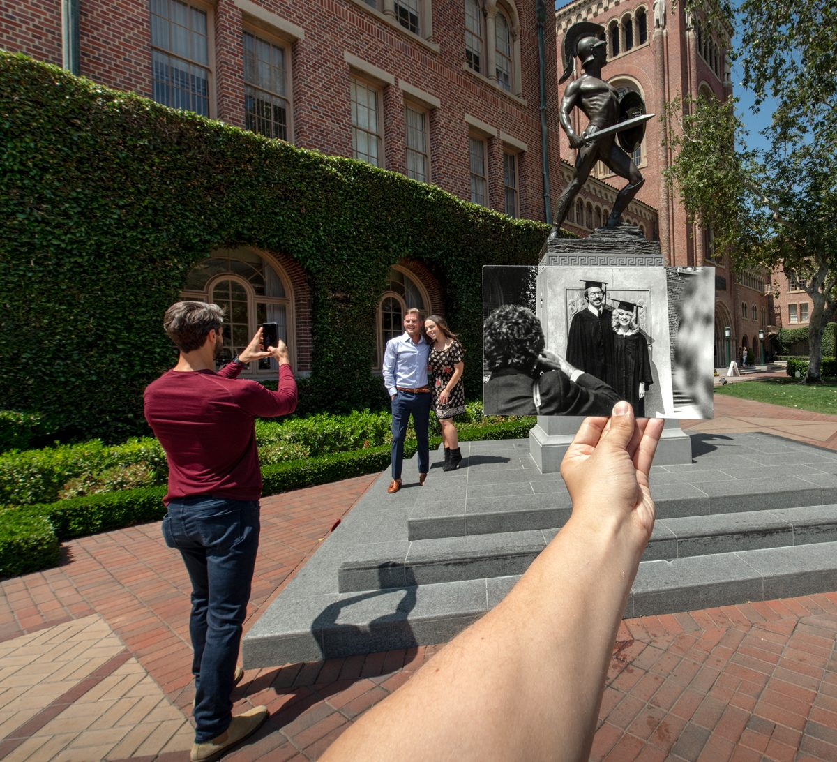 USC commencement history photo