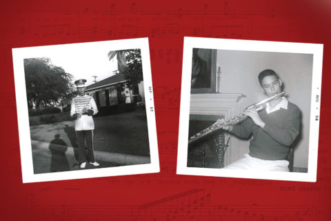Edward Judd Zobelein's passion for music began with an early love of the flute and piccolo, which led to a lifelong appreciation of KUSC. (Photos/Courtesy of Linda Zobelein Koss)