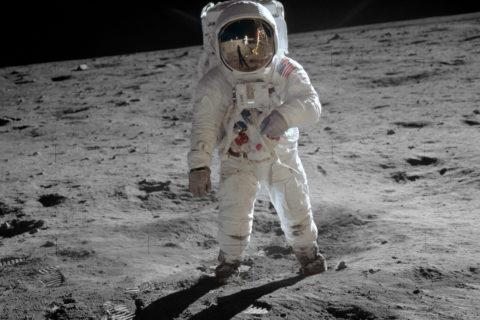 Neil Armstrong Buzz Aldrin moon landing anniversary