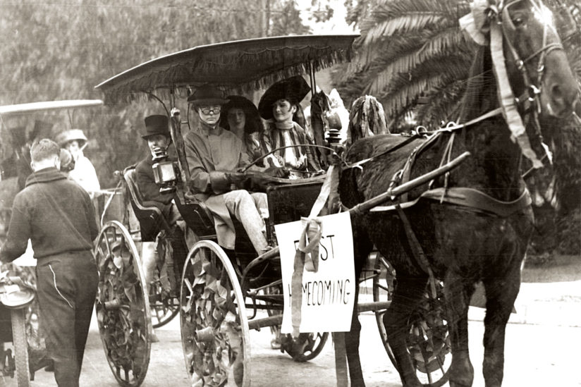 Horse and cart mark USC Homecoming history