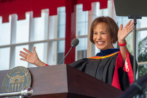USC President Carol L. Folt at convocation