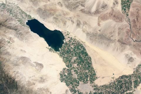 Salton Sea aerial view
