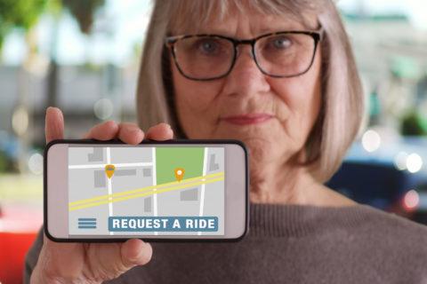 Access to transportation via Lyft for seniors