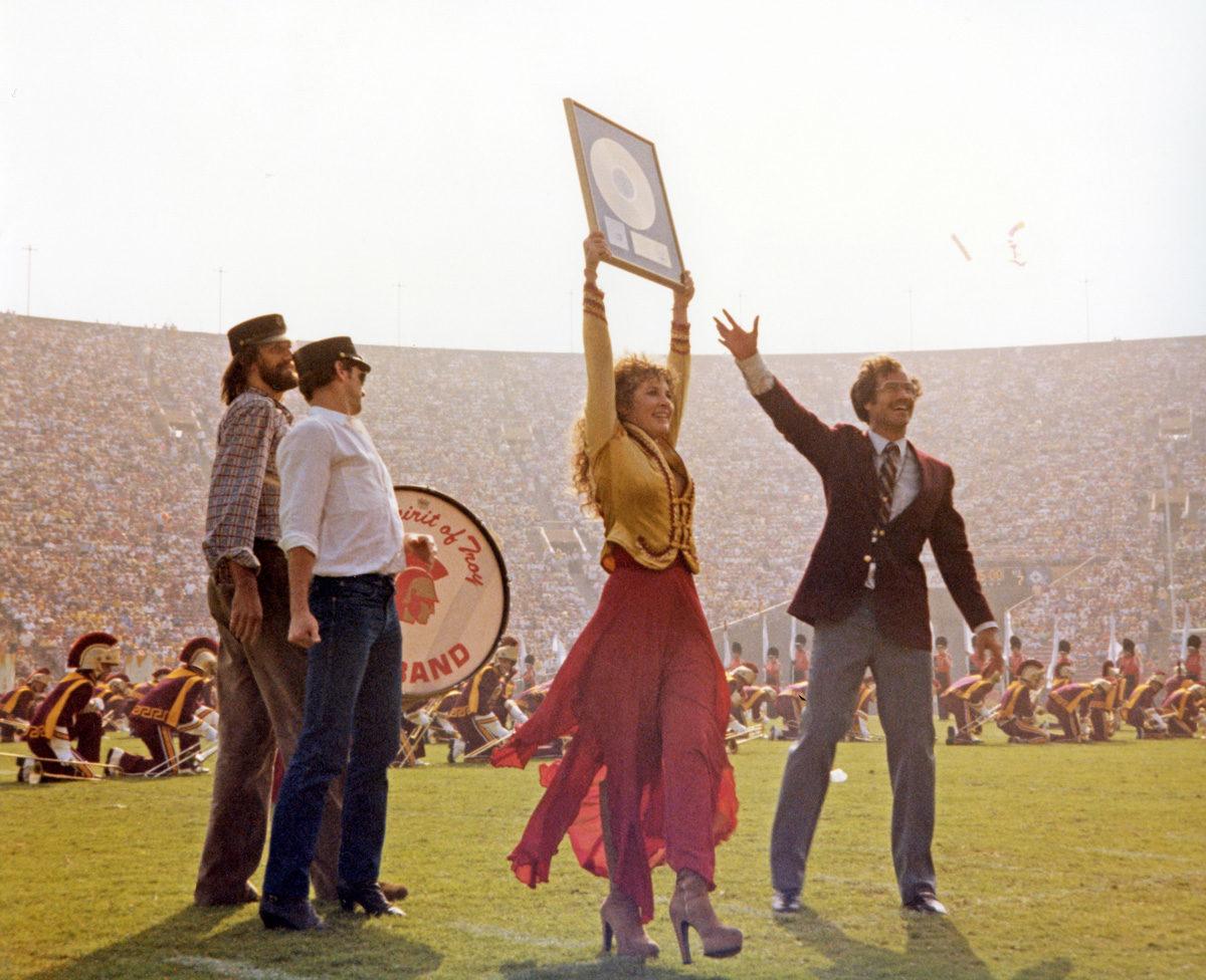 Stevie Nicks makes Trojan Marching Band history