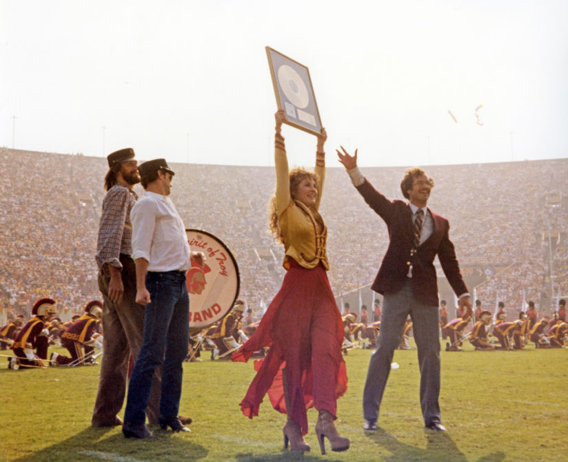 Stevie Nicks makes Trojan Marching Band history