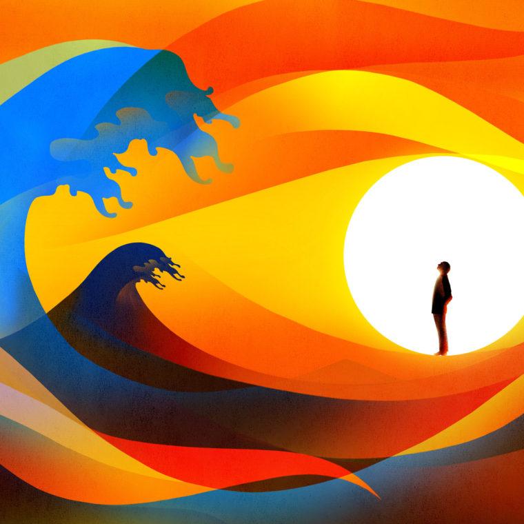 climate change 2050 oceans illustration