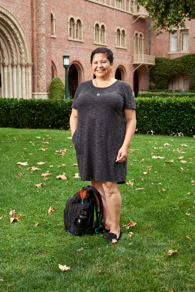 Photo of Margarita Lopez on USC campus