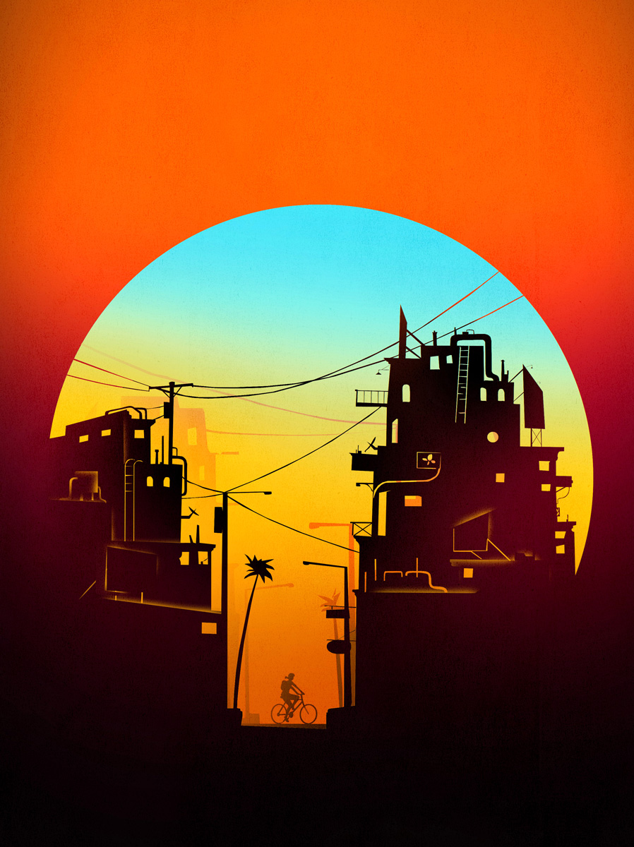 climate change 2050 urban heat illustration