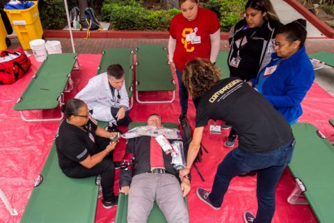 Great ShakeOut mass casualty exercise