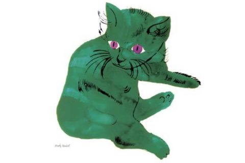 """Green Cat,"" c. 1956, by Andy Warhol"