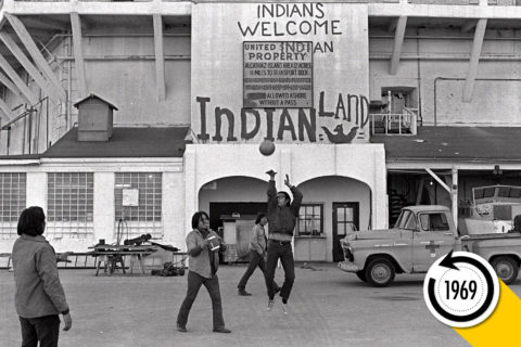 Native Americans occupy Alcatraz